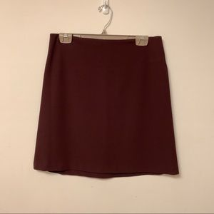 DVF mini skirt wine colour